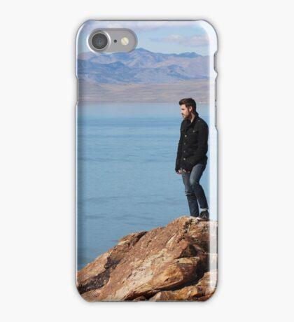 Adventure / Hike , Mountain on Antelope Island, Utah iPhone Case/Skin