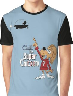 Super Chicken Fred pointing Graphic T-Shirt