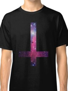 Purple Galaxy Inverted Cross Classic T-Shirt