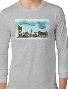 Urban Sketching Doodle 01 Long Sleeve T-Shirt