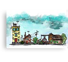 Urban Sketching Doodle 01 Canvas Print