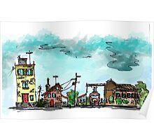 Urban Sketching Doodle 01 Poster