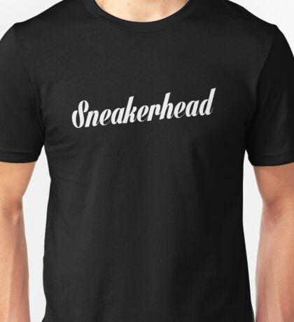 Sneakerhead Script - White Unisex T-Shirt