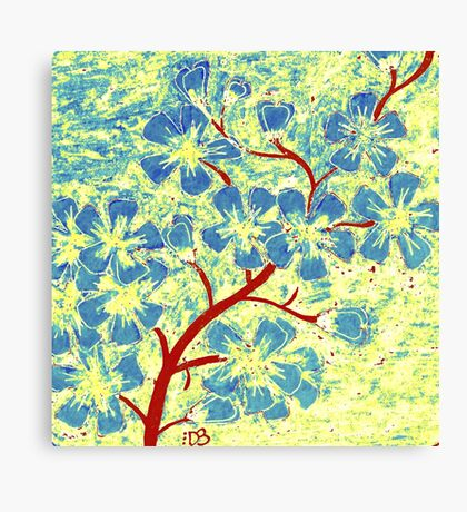 Blue Flowers of Happiness Canvas Print