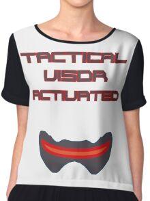 Tactical visor activated Chiffon Top