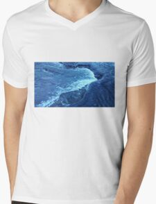 Ice Crystal Wave Mens V-Neck T-Shirt