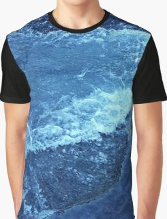 Ice Crystal Wave Graphic T-Shirt