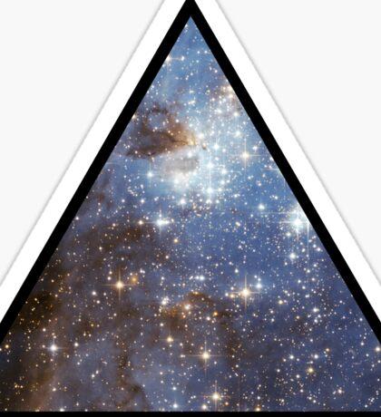 Blue Galaxy Triangle Sticker
