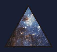 Blue Galaxy Triangle One Piece - Short Sleeve
