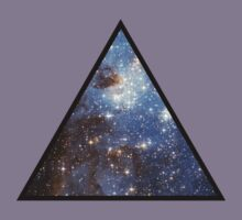 Blue Galaxy Triangle Kids Tee