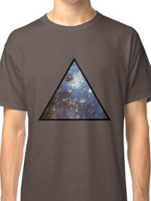 Blue Galaxy Triangle Classic T-Shirt