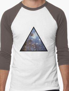 Blue Galaxy Triangle Men's Baseball ¾ T-Shirt