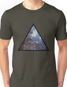 Blue Galaxy Triangle Unisex T-Shirt