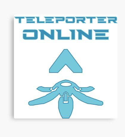 Teleporter online Canvas Print
