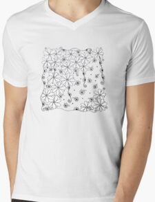 Falling Flowers Mens V-Neck T-Shirt