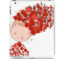 Doodle flowers beautiful girl face iPad Case/Skin
