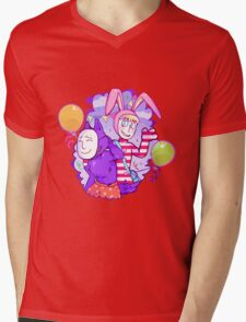 Popee & Kedamono Mens V-Neck T-Shirt