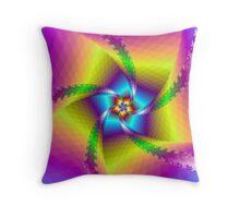 Floral Spiral Throw Pillow