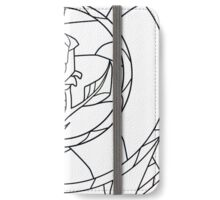 Stained Glass Rose White iPhone Wallet/Case/Skin