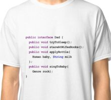 Java Code New Baby - Interface Dad Classic T-Shirt