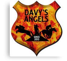 Davy's Angels Badge Canvas Print