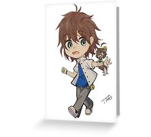 CHIBI + smaller chibi Greeting Card