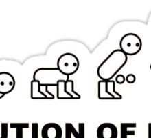 Evolution of Man Sticker