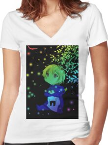 Gazing is One Thing Women's Fitted V-Neck T-Shirt