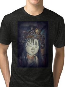 Traditional Wooden Chinese Doll Tri-blend T-Shirt