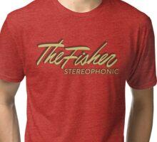 The Fisher Stereophonic vintage 1950s emblem Tri-blend T-Shirt