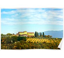 Tuscany hill Poster