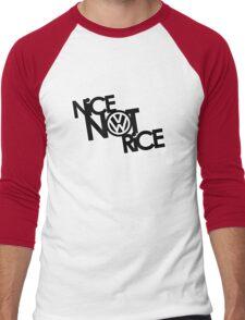 Nice Not Rice - VW Men's Baseball ¾ T-Shirt