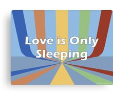 Love is Only Sleeping Canvas Print