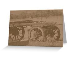 Farm wagon Greeting Card