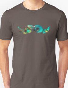 Green Galaxy Mustache Unisex T-Shirt