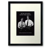 Hamilton x The West Wing - What Do We Have In Common? (ver 2) Framed Print