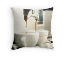 Espresso coffee cup Throw Pillow
