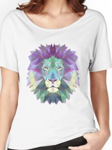 Colorful Abstract Lion Women's Relaxed Fit T-Shirt