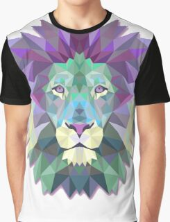 Colorful Abstract Lion Graphic T-Shirt
