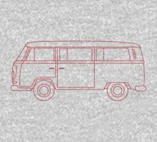 VW T2 Bus One Piece - Short Sleeve