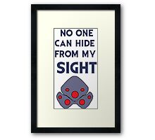No one can hide from my sight Framed Print