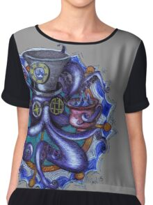 Steampunk Octopus Tentacle Tea Party Chiffon Top