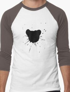 Black Ink Men's Baseball ¾ T-Shirt