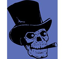 Top Hat Skull Photographic Print
