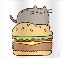 Pusheen and Burger Poster