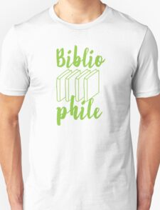 BIBLIOPHILE with books Unisex T-Shirt