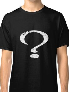 Distressed Question Mark Classic T-Shirt