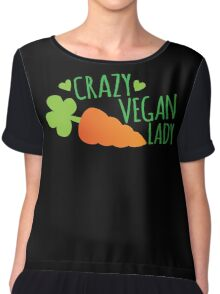 CRAZY VEGAN LADY Chiffon Top