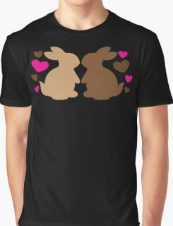 Chocolate bunnies in love Graphic T-Shirt