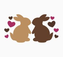 Chocolate bunnies in love Baby Tee